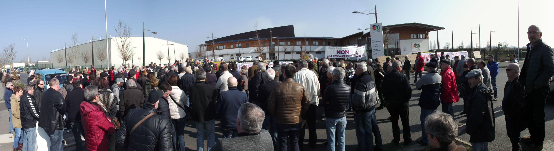 Près de 300 personnes ont manifesté contre la redevance incitative